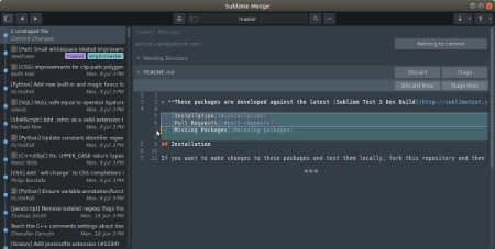 The sublime text editor