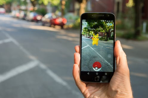 Pokémon GO is a great Augmented reality example