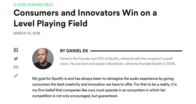Spotify accuses Apple of anti-competitive practices