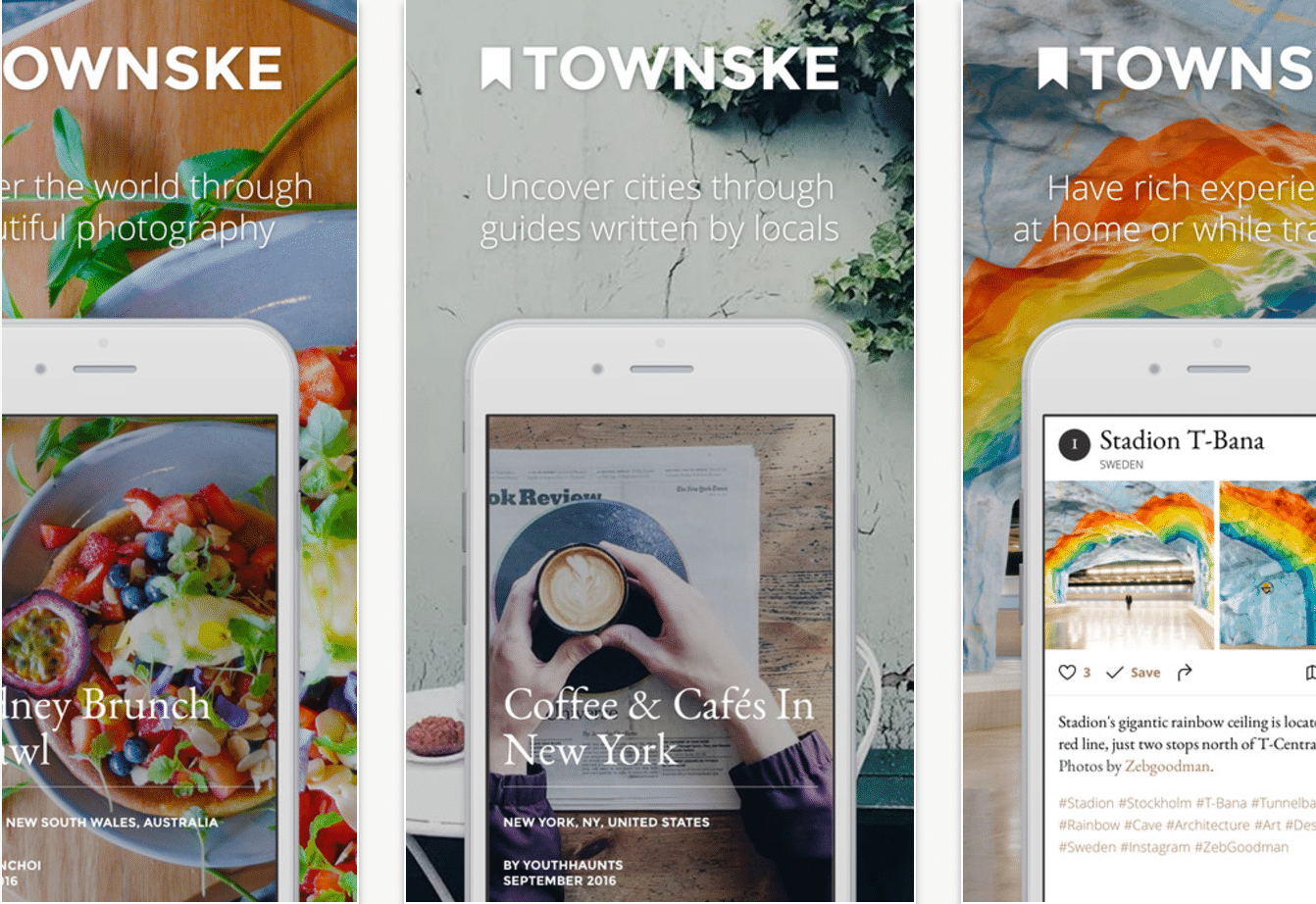 The Townske app using React Native