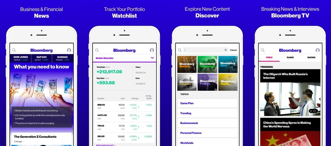 The Bloomberg app using React Native