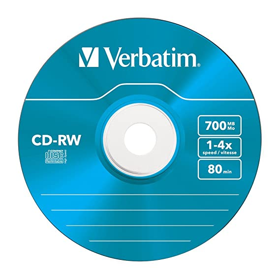 A CD-RW from the Verbatim company