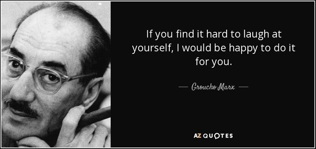 A great quote on laughing at yourself