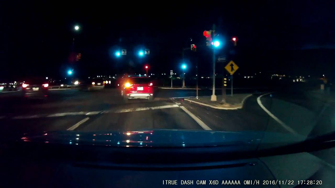 A nighttime recording dashcam