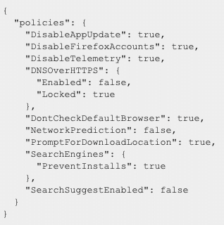 The policies.json file